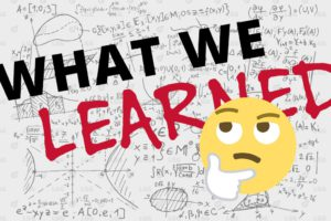 what we learned picture with emoji face