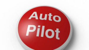 red auto pilot button